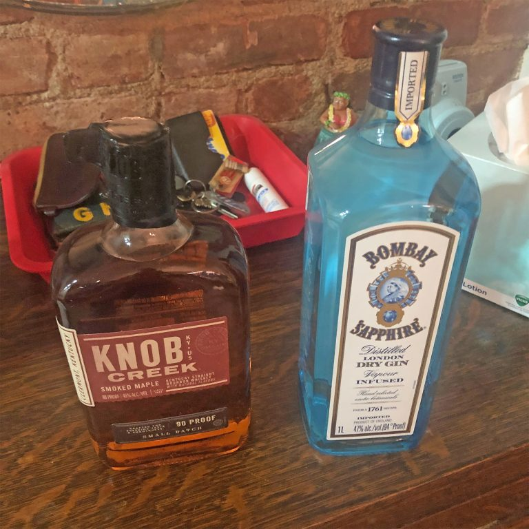 Drizly Order Knob Creek Bourbon and Bombay Sapphire Gin