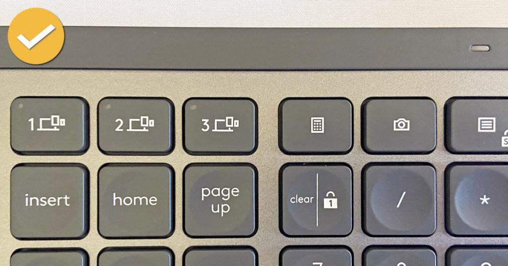 MX Keys Review Mac Media Buttons